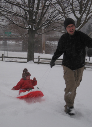 Zora and me, in the snow!