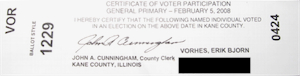 my voter receipt